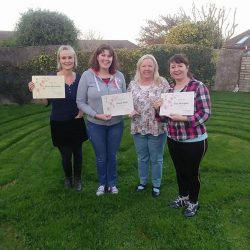 Reiki One Students Receiving Certificates